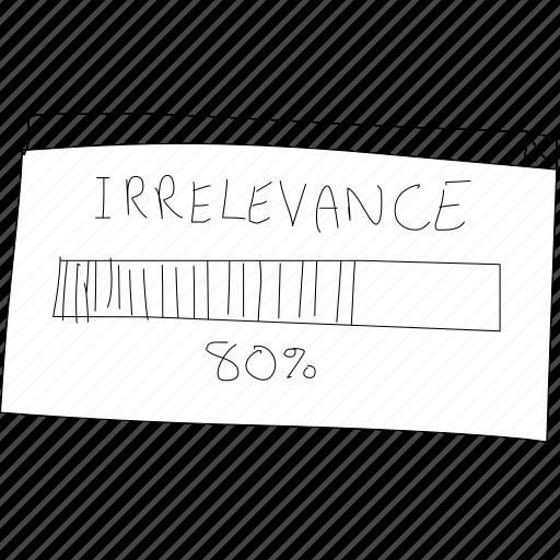 cartoon, funny, irrelevance, irrelevant, percent, progress, simplediagrams icon