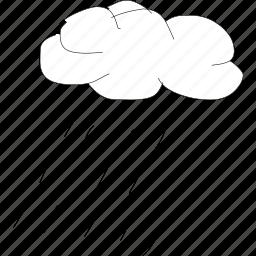 cartoon, cloud, funny, rain, shower, simplediagrams, storm icon