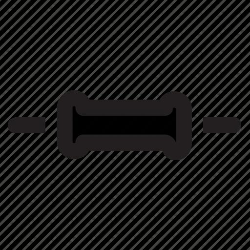 component, electronics, elektronika, line, resistor, service icon