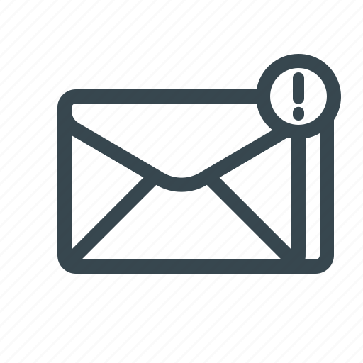 email, important, mail, newsletter, notification, spam, warning icon