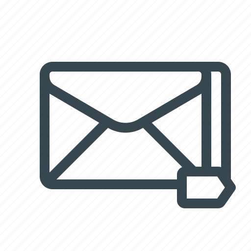 email, important, labeled, mail, newsletter, tag, tagged icon