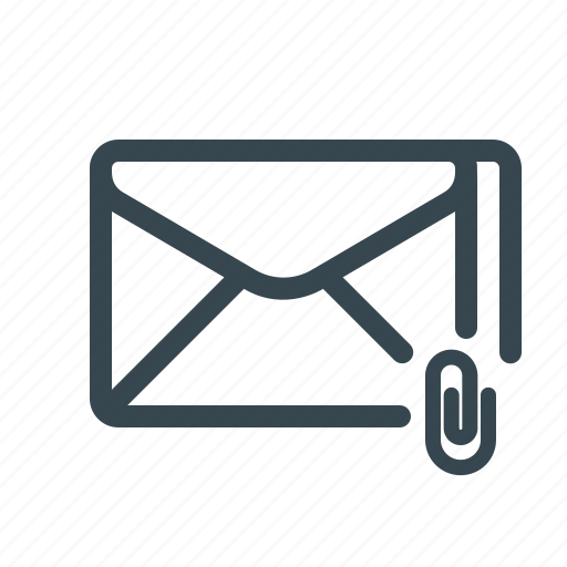 attach, attachment, document, email, file, mail, newsletter icon