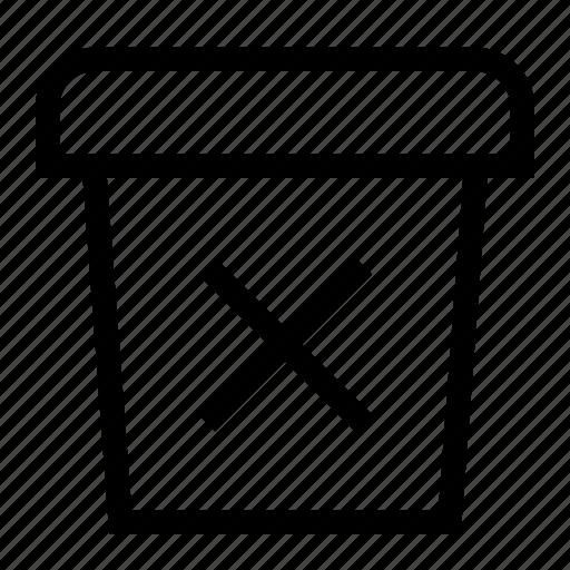 cross, delete, document, file, folder, garbage, junk icon