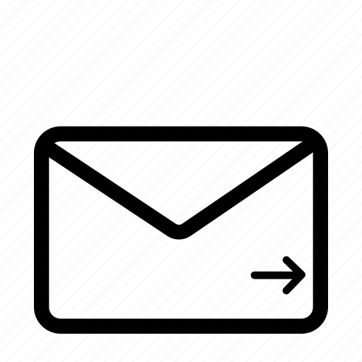 arrow, direction, email, envelope, letter, next, right icon