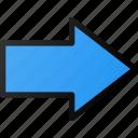 arrow, email, forward, send, thick