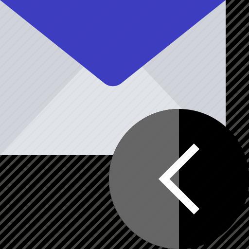 arrow, back, left, point icon