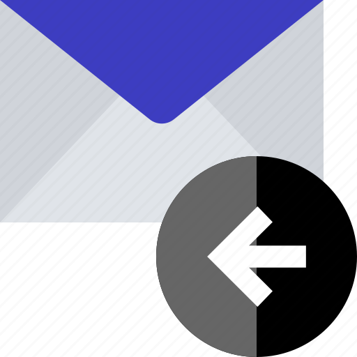 back, email, left, point icon