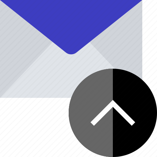 email, high, up icon
