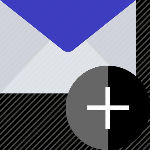 add, email, plus, sender icon