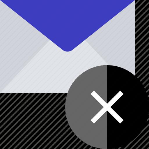 delete, email, stop, x icon