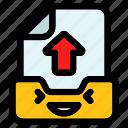 inbox, up, arrow, send, upload, email, communication