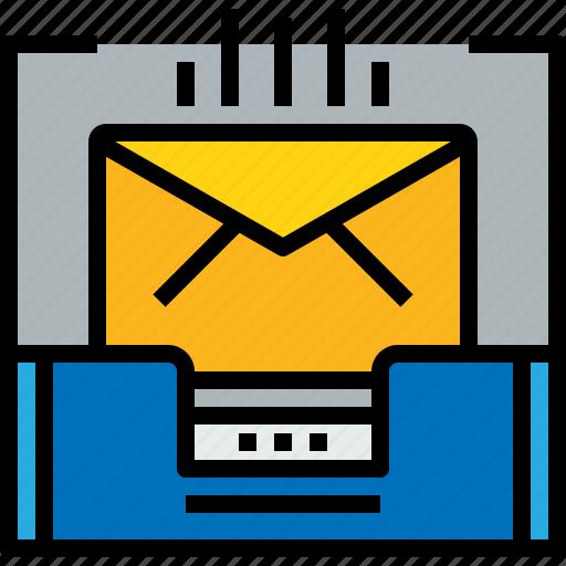address, communication, inbox, information, mail, mailbox icon