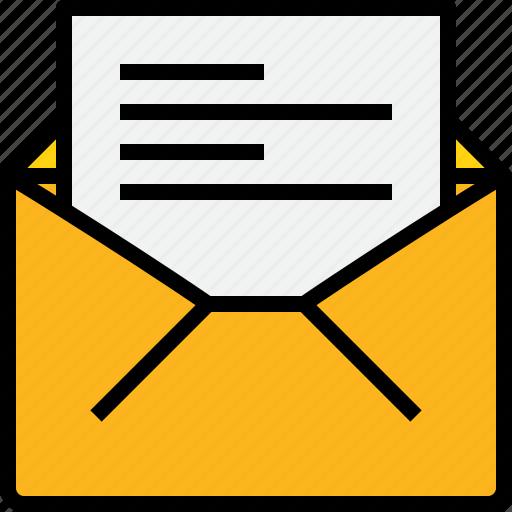 address, communication, information, mail, mailbox, open icon