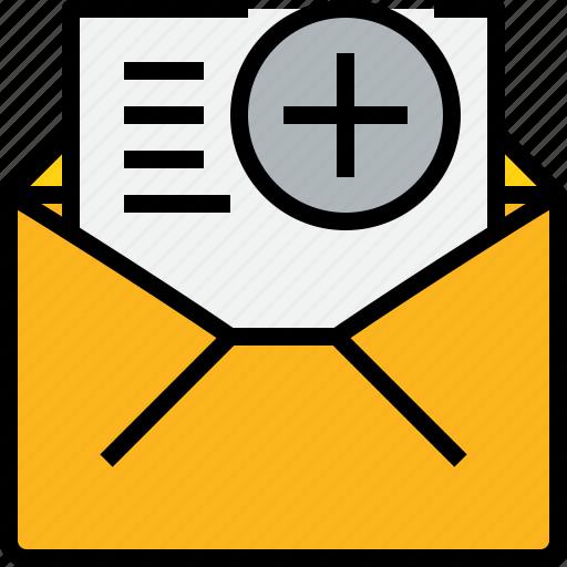 add, address, communication, information, mail, mailbox, open icon