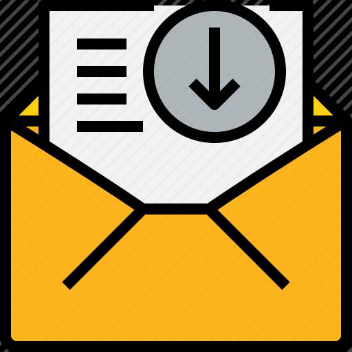 address, arrow, communication, information, mail, mailbox, open icon
