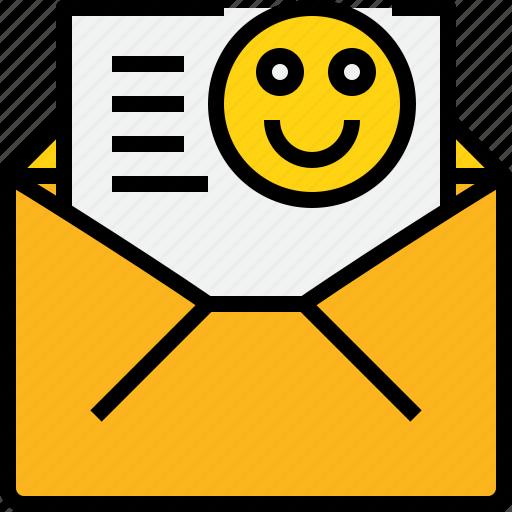 address, communication, good, information, mail, mailbox, open icon