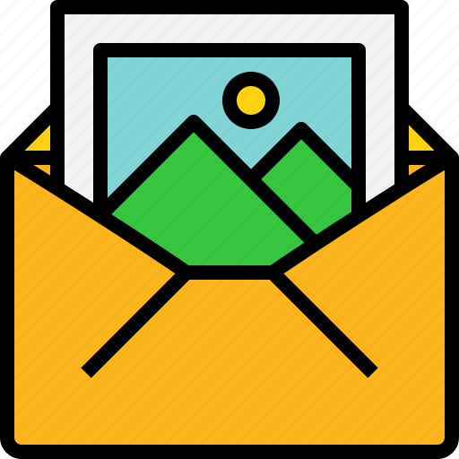 address, communication, information, mail, mailbox, open, picture icon