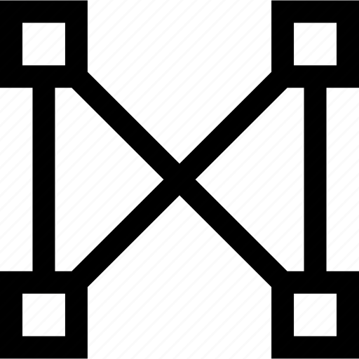 abstract, creative, cross, x icon