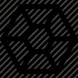 connect, creative, hexagon icon