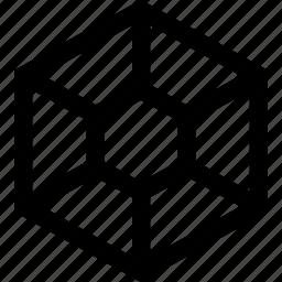 connect, hexagon, honey icon