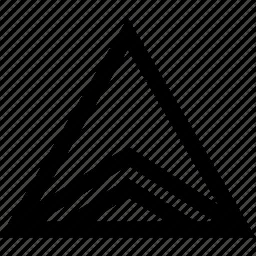 creative, triangle, up icon
