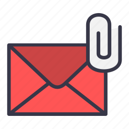 attach, attachment, email, mail, message, pin icon