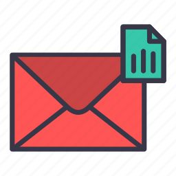 analysis, chart, columns, email, mail, message, statistics icon