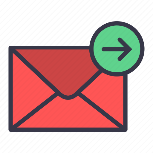 arrow, email, forword, mail, message, move, send icon