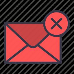 cancel, close, delete, email, mail, message, remove icon