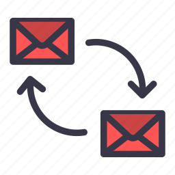communication, conversation, cycle, email, emails, mail, message icon