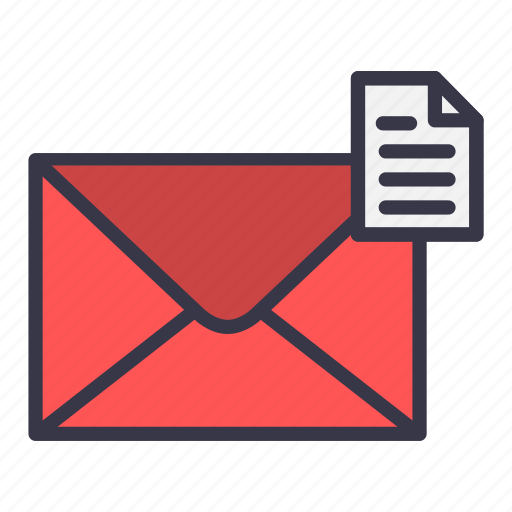 document, email, envelope, mail, message, report, text icon