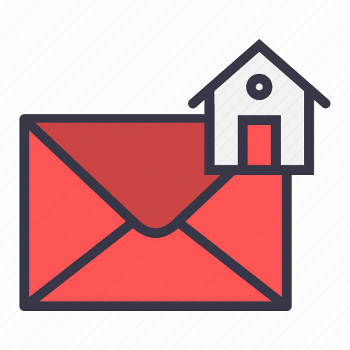 email, envelope, home, house, mail, message icon