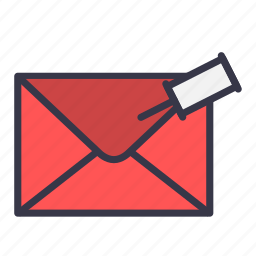 attach, email, envelope, mail, message, pin icon