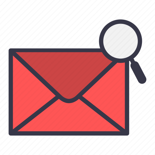 email, envelope, find, mail, message, search, zoom icon