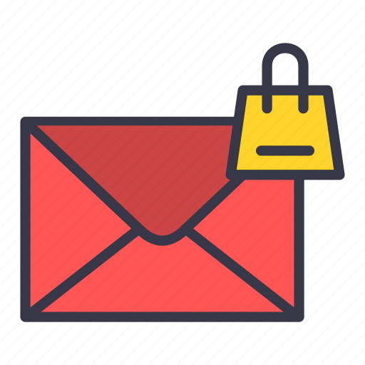 bag, email, envelope, mail, message, shopping icon