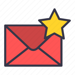 email, envelope, favourite, mail, message, star icon
