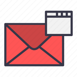 email, envelope, mail, message, web, window icon