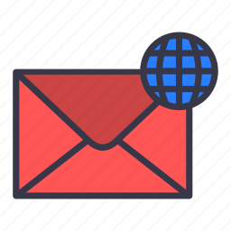 email, globe, international, language, mail, message, network icon