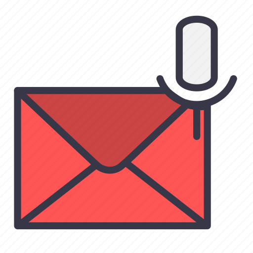 email, envelope, mail, message, mic, recording, sound icon