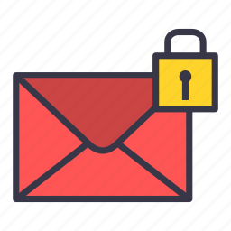 email, letter, lock, mail, message, private, protected icon