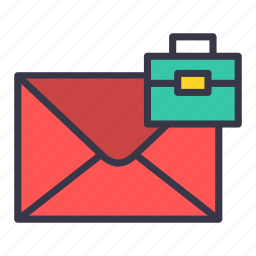 briefcase, email, folder, mail, message, suitcase icon