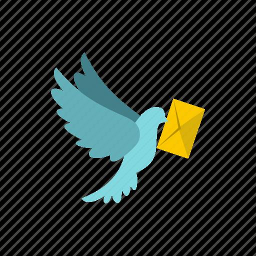 address, communication, dove, internet, letter, mail, message icon