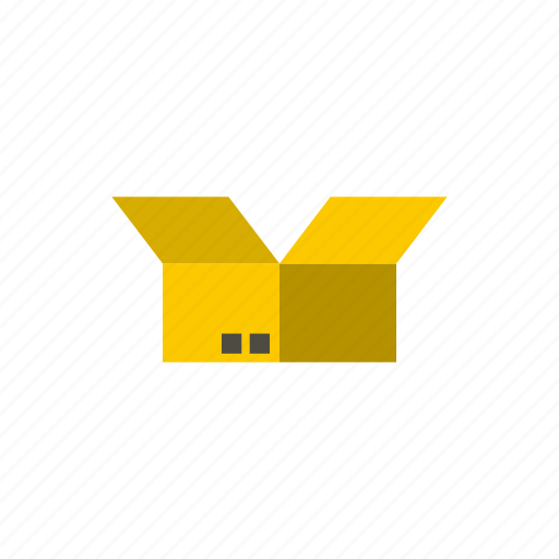 box, cardboard, container, empty, gift, package, packaging icon