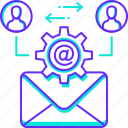 mail, manage, message, people, settings, user icon