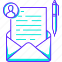 business, email, mail, message, user, write icon