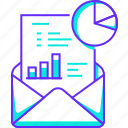 analytics, document, email, mail, report, statistics icon