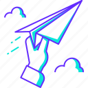 cloud, email, mail, message, paper plane, send icon