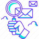 email, find, magnifier, mail, scanning, search icon
