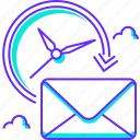 delivery, fast, mail, message, post, time icon
