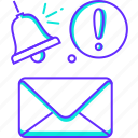 alert, inbox, letter, mail, message, notification icon